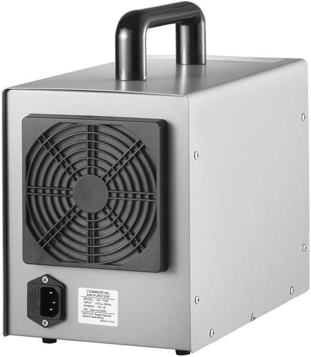 GRASSAIR Generador de ozono Comercial Purificador de Aire Profesional O3, Ozonizador Filtro para Eliminar el formaldehído y el hollín Control de detención de olores ...