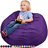 Oversized Bean Bag Chair in Radiant Orchid – Machine Washable Big Soft Comfort Cover & Memory Foam Filler – Cozy Lounger & Bed – Kids & Teens Love This Huge Sack – Indoor Furniture By Panda Sleep