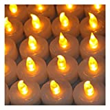 100Pcs Amber Yellow Tea Flameless LED Light Candle For Party Wedding