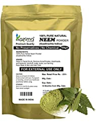 KAZIMA Premium Quality Neem Powder (100g) - 100% Pure Natural Herbal & Fresh - Remove Acne/Pimples, blackheads, anti-bacterial, dandruff, scalp, scars