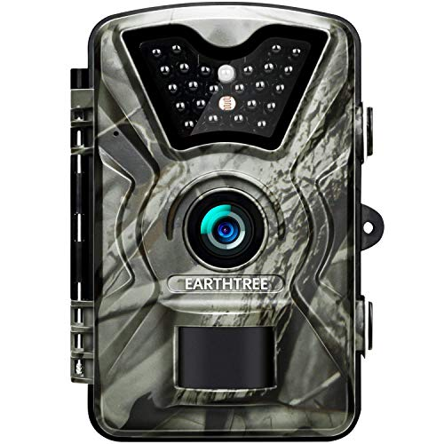 Earthtree Trail Game Camera 12MP 1080P Deer Hunting Camera with 940nm IR LEDs,0.5s Trigger Speed,Night Vision Up to 65ft/20m,2.4'' Display,IP66 Water Resistance for Game & Home Security by EARTHTREE