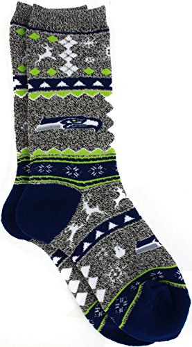 Ugly Christmas Seahawks Socks