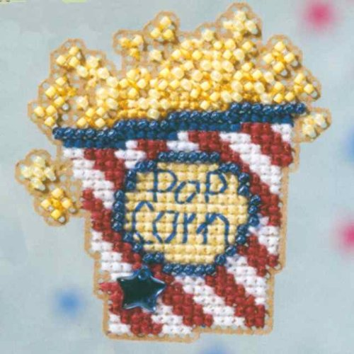 Mill Glass Treasure Hill (Popcorn - Fridge Magnet - Cross Stitch Kit)