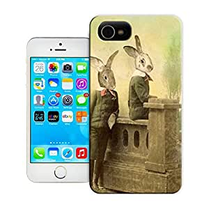 Rabbit handsome friends cute cartoon durable top iphone 4/4s protection shell for sale by LeTian Case