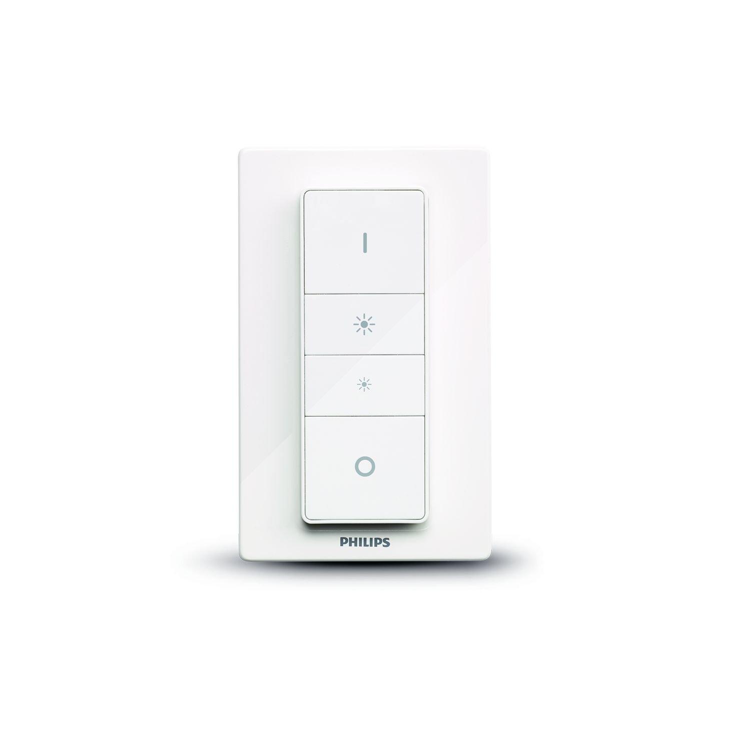 Philips Hue   Interruptor Y Mando Inalámbrico, Iluminación Inteligente, Puede Colocarse En La Pared, Controlable Vía Wi Fi, Compatible Con Amazon Alexa, Apple Home Kit Y Google Assistant by Philips Hue