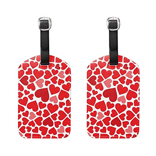 Heart-shaped Luggage Tags & Bag Tags 2 pieces Set