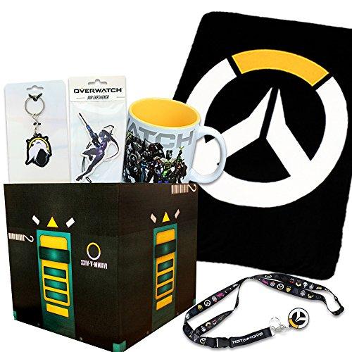 Overwatch Gift Box Bundle With Loot Box   Overwatch Fleece Blanket  Mug   More