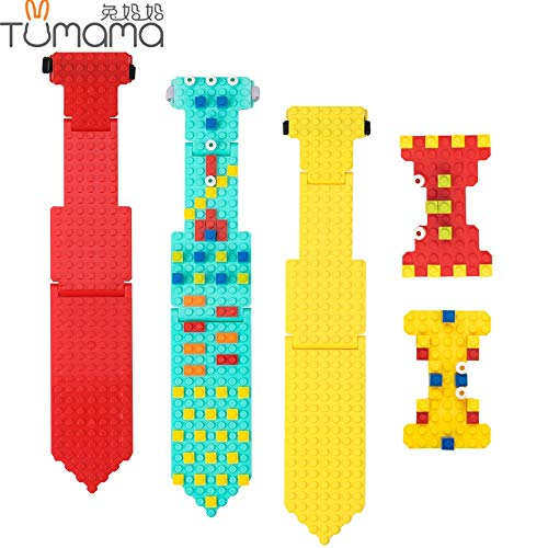 - Best Quality tumama Necktie Building Blocks baseplate Compatible legoed minecrafted Bricks DIY Educational s Funny Bowtie Brick Base Plate