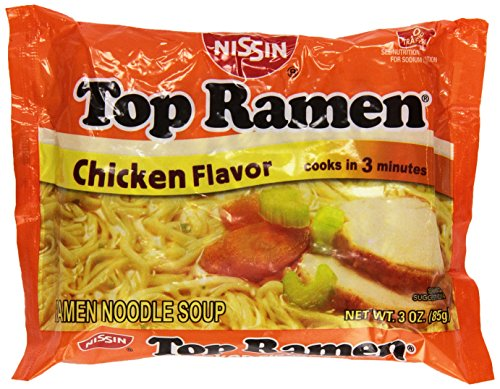 Nissin Top Ramen Chicken - 3 oz - 24 ct (Nissin Chicken Ramen compare prices)