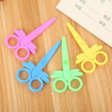 Supertool amarillo dise/ño de mariposas multicolor Tijeras para manualidades infantiles