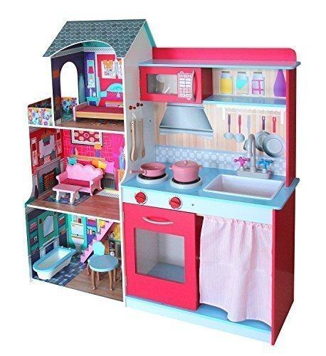 I grandi giocattoli di legno bianchi della cucina del gioco di nuovo arrivo  per i bambini fingono W10c370e