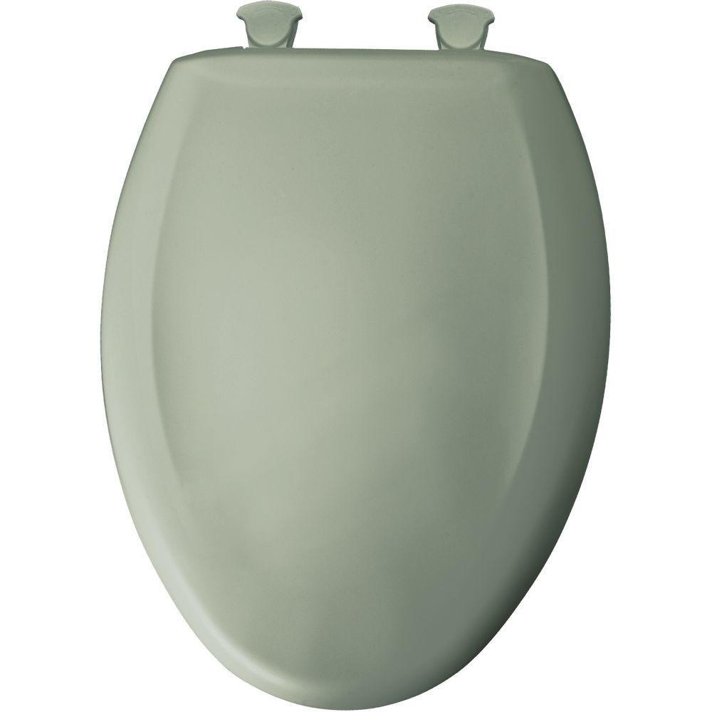 Bemis 7B1200SLOWT 355 Lift-Off Plastic Elongated Slow-Close Toilet Seat Aspen green
