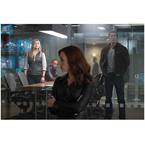 Captain America: Civil War Scarlett Johansson as Black Widow Standing by Glass Doors 8 x 10 inch - Glasses Paul Rudd