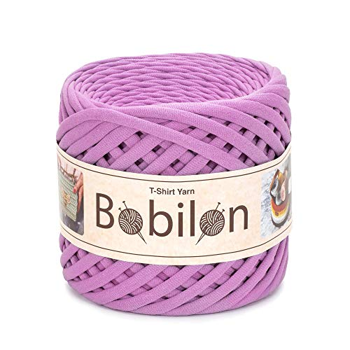 (T-Shirt Yarn Fettuccini Zpagetti Style - Tshirt Yarn for Crocheting - Ribbon Yarn 100% Cotton - Knitting Yarn Ball - T Yarn Organic - Macrame T-Yarn - Thick Fabric Yarn - Jersey Yarn Bubble Gum)