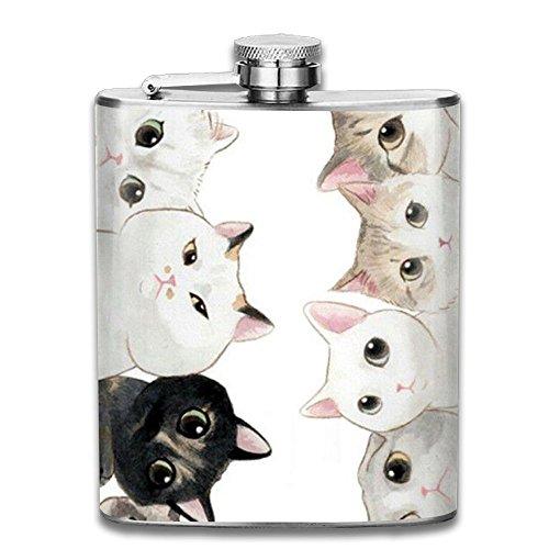 Bacchus-G The Crazy Cat Lady Unisex Hip Flask For Liquor Stainless Steel Bottle Alcohol 7oz