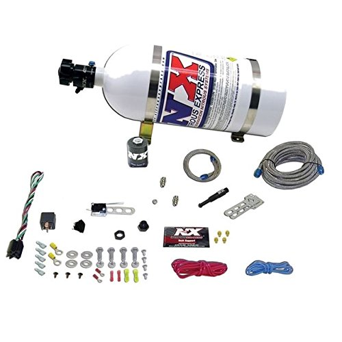 Single Nozzle System (Nitrous Express 21000-10 35-150 HP Dry EFI Single Nozzle System with 10 lbs. Composite Bottle)