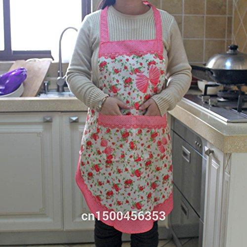 Householdバタフライ韓国ファッション防水エプロンカスタム5色withポケットレディースガールズCookingよだれかけエプロン   B00ZP8ZOEE
