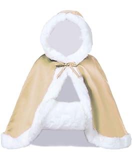 e72636f2ba4d0 BEAUTELICATE Women s Bridal Cape Wedding Cloak With Fur Hip-length(More  Colors)