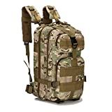 AIIreadar 3P Waterproof Tactical Camouflage Bag Men Hiking Trekking Backpack Glass Green Camoufla Other
