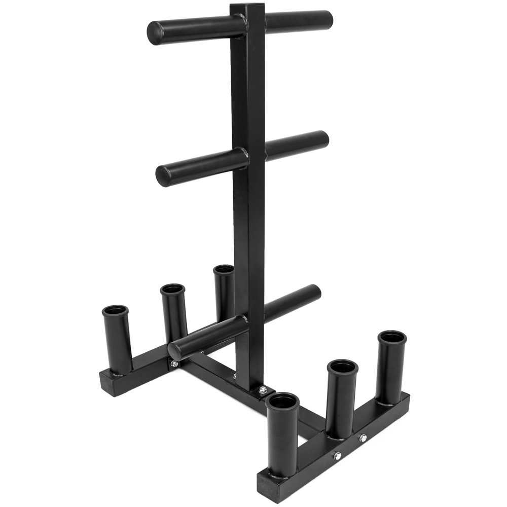 Olympic 2-inch Plate Tree with 6 Bar Holders by Crown Sporting Goods by Crown Sporting Goods