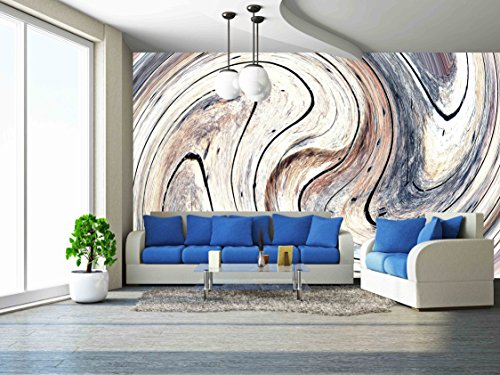 Cheap  wall26 - Abstract Circles Art Background. (Swirl Pattern) - Removable Wall Mural..