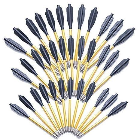"""12 X 6.5/"""" PISTOL CROSSBOW BOLTS ALUMINIUM ALLOY STEEL TIPS HUNTING ARROWS"""