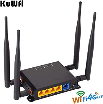 Amazon.com: KuWFi Desbloqueado 4G LTE Router WiFi para coche ...