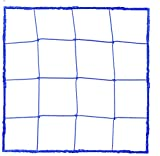 Champion Sports Official Size Soccer Net, 3mm, Blue