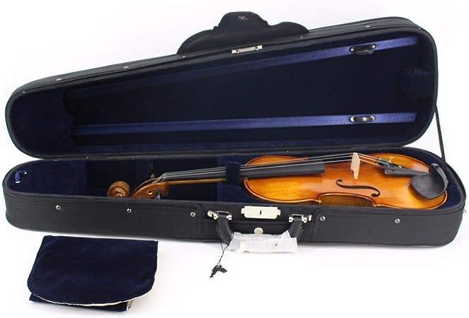 Estuche de violín de tamaño completo Forma triangular Estuche rígido portátil de violín con mango Manija del arco Cierre con cremallera Mochilas Correas Tela Oxford Ligero Violín profesional Bolsa de: Amazon.es: Hogar
