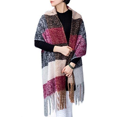 ADUO Women\'s Fashion Long Shawl Big Grid Winter Warm Lattice Large Scarf