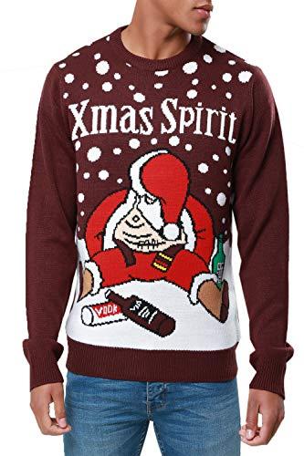 Árbol Red Divertido Papá Noel Threadbare Navidad De Para Jersey Spirit Hombre Burgundy Xmas Novedad Bebe ZqTETYwx6