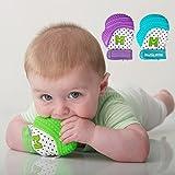 Mordedera para bebé Munch Mitt Guante de Dentición - verde