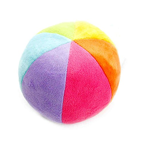 Premom Baby Balls Rainbow Rattle Toy Small Colorful Plush Ball for Newborn Infant Toddler (Toys for 0 to 36 Months)