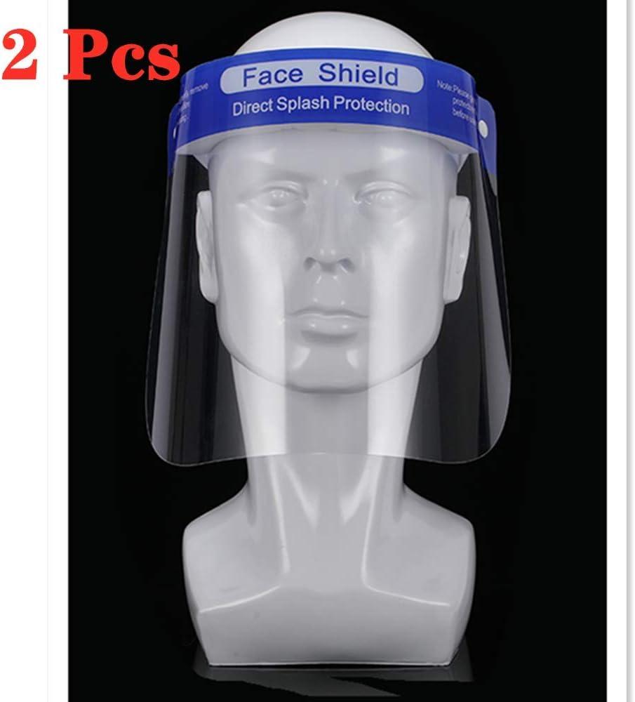 Paquete de 2 cubiertas de seguridad PET de doble cara a prueba de aceite, antivaho transparente, protección solar, gafas antisaliva, disponible para adultos y niños