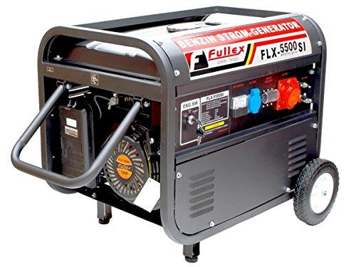 Fullex Stromerzeuger mit 5.0 KW Dauerleistung, für Holzspalter, Häcksler, Rasenmäher usw.....