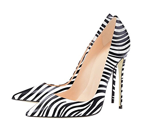 Scarpe Tacco Zebra col Scarpe Chiuse Donna da Donna Eleganti Donna Scarpe Soireelady xFIwaIH