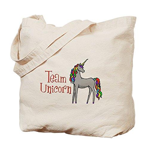 Equipo de CafePress–Unicorn Rainbow–Gamuza de bolsa de lona bolsa, bolsa de la compra