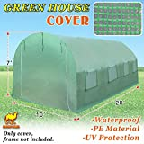 Strong Camel Greenhouse Replacement Cover 20'X10'X7' Green House Spare Parts Cover (Frame NOT Included)