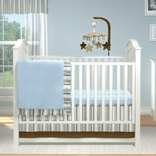 Short Latte 3 Piece Baby Crib Bedding by Bananafish
