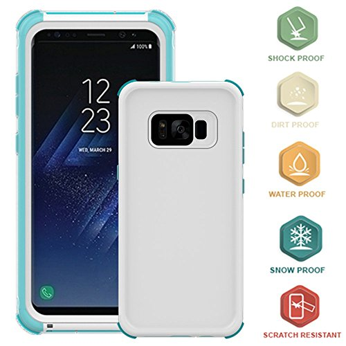 - Galaxy S8 Waterproof Case, KAMII Full Body Protective Underwater Cover Waterproof Dirtproof Snowproof Shockproof Scratch Resistant Case Cover for Samsung Galaxy S8 (5.8 inches) (Blue)