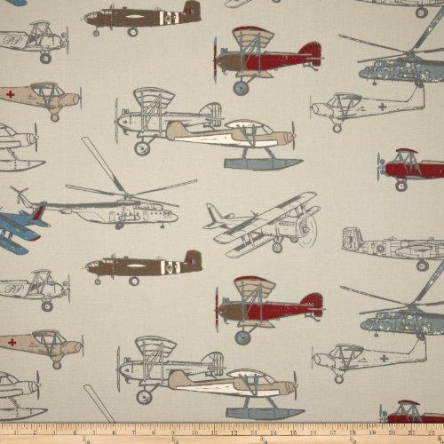 (Premier Prints Vintage Air Pewter/Natural)