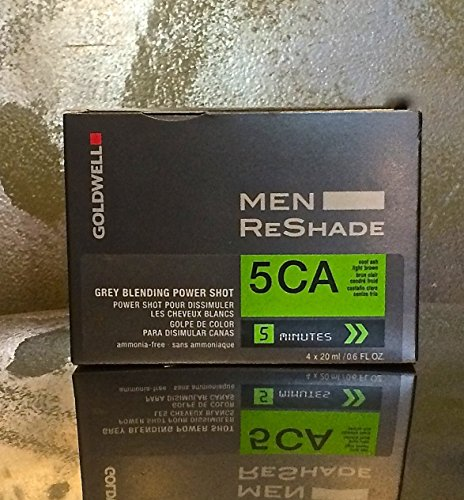 Goldwell for Men ReShade, Grey Blending Power Shot, 5CA ,Cool Ash Light Brown, Ammonia-free