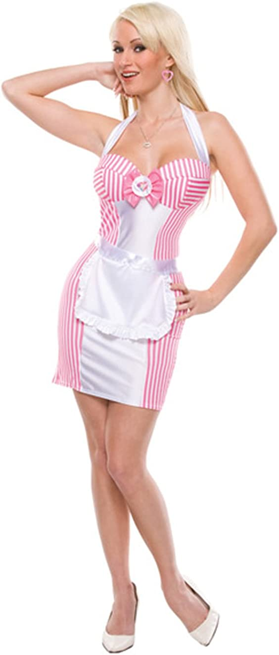 et Maid Apron Adult Petticoat Women Satin Headband Costume Skirt Waiter