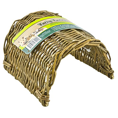 (Ware Manufacturing Hand Woven Willow Twig Tunnel Small Pet Hideout, Large)