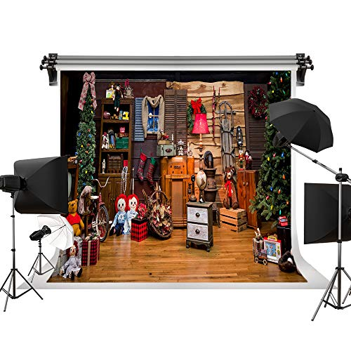 - Kate 10x6.5ft/3x2m(W:3m H:2m) Christmas Backdrops Christmas Tree Background Backdrop Christmas Toy Background Wooden Floor Backgrounds Children Photo Professional Photography Studio