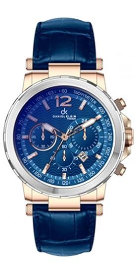 Reloj Daniel Klein Azul en Acero Bicolor.