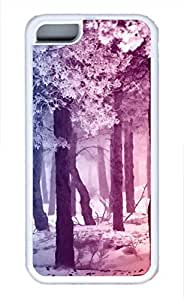 iPhone 5c case, Cute Smooth Rainbow Winter Forest iPhone 5c Cover, iPhone 5c Cases, Soft Whtie iPhone 5c Covers