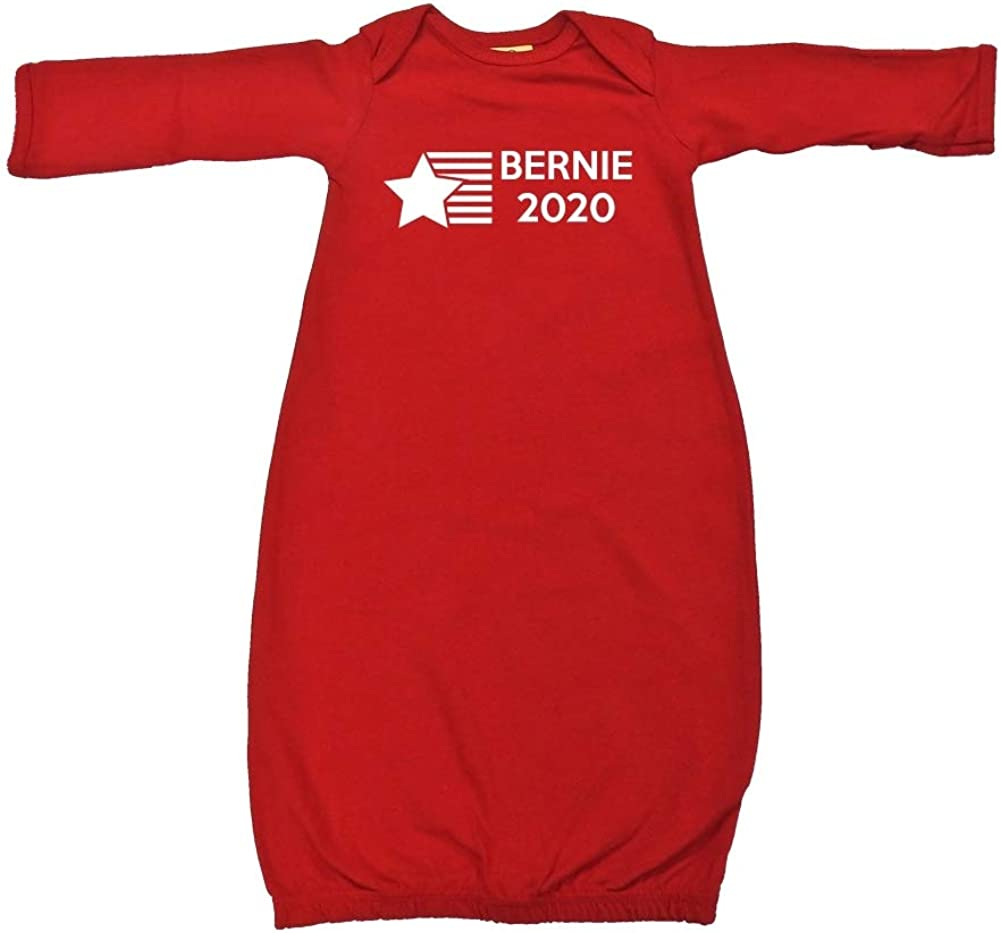 Mashed Clothing Bernie 2020 Star//Stripes Presidential Election 2020 Baby Cotton Sleeper Gown
