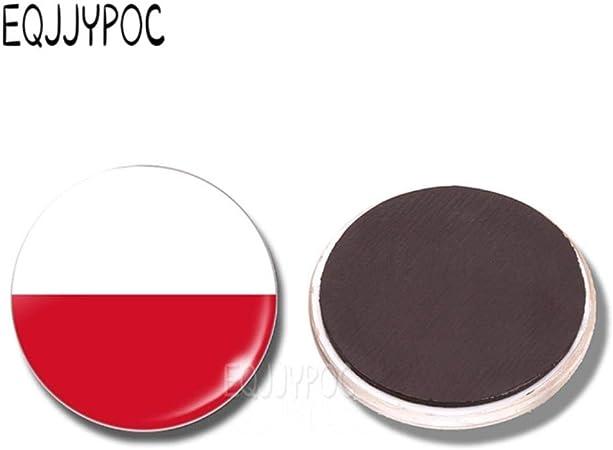 FUYIO 2 Piezas imán de Nevera de Bandera de Europa Alemania francés Irlanda Países Bajos Bélgica España Gran Bretaña Vidrio magnético refrigerador Pegatinas decoración, Polonia: Amazon.es: Hogar