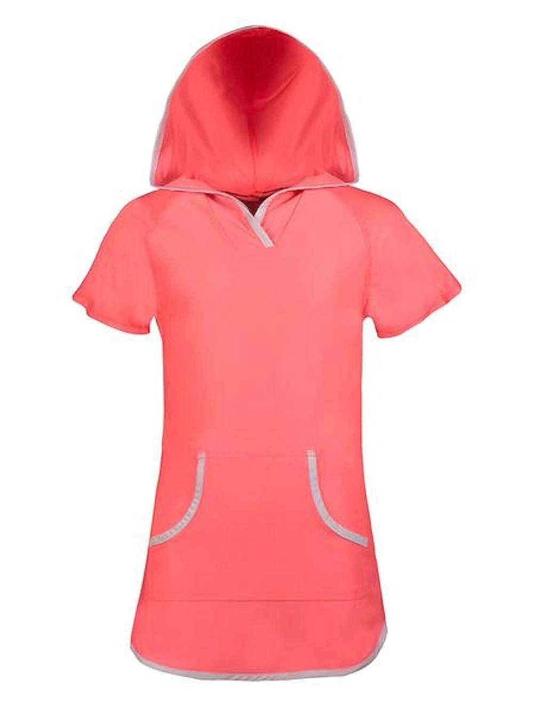 Girls Sun Mesh Hooded Kangaroo Cover Up